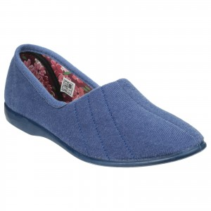 GBS Audrey Womens Slippers Blue (Sizes 3-9)