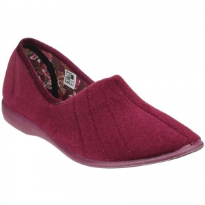 GBS Audrey Womens Slippers Burgundy (Sizes 3-9)