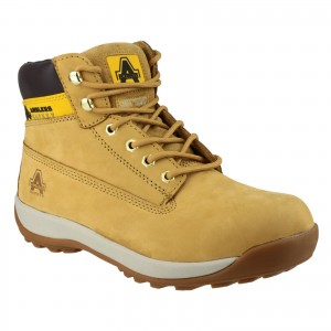 Amblers FS102 Safety Work Boots Tan Honey (Sizes 3-12)