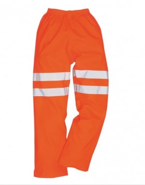 Hi-Vis Orange Waterproof Work Overtrousers HFENTR (Sizes S-XXXL)
