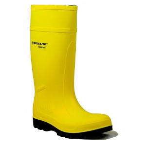 Dunlop Purofort Professional Safety Wellington Work Boots Yellow (Sizes 4-13)