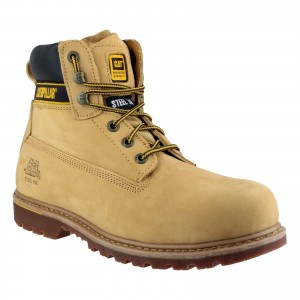 Caterpillar Holton Safety Work Boots Tan Honey (Sizes 6-15)