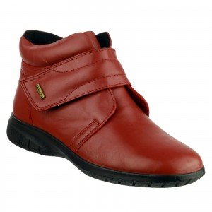 Cotswold Chalford Womens Waterproof Ankle Boots Red (Sizes 3-8)