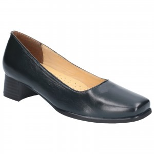 Amblers Walford Ladies Wide Fit Court Shoes Navy (Sizes 3-8)