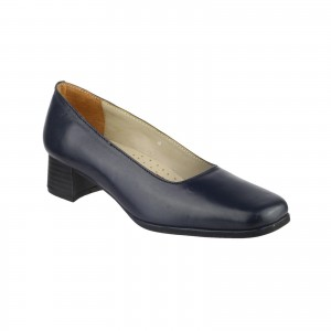 Amblers Walford Ladies Court Shoes Navy (Sizes 3-9)