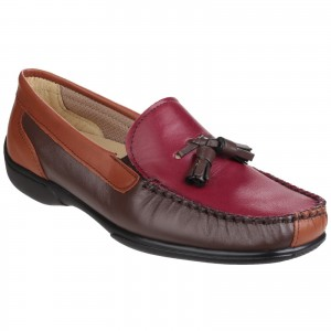 Cotswold Biddlestone Womens Loafer Shoes Brown & Tan (Sizes 3-9)