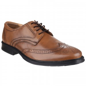 Cotswold Mickleton Formal Brogue Shoes Tan (Sizes 6-12)