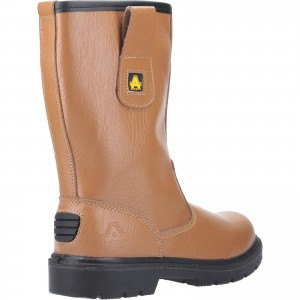 Amblers FS124 Safety Rigger Work Boots Tan (Sizes 3-15)
