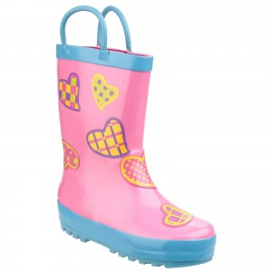 Cotswold Puddle Childrens Wellington Boots Pink (Sizes 4.5-13)