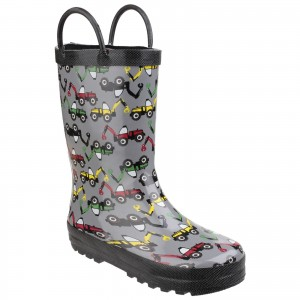 Cotswold Puddle Childrens Wellington Boots Grey (Sizes 4.5-13)