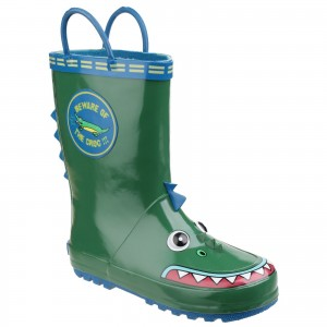 Cotswold Puddle Childrens Wellington Boots Green (Sizes 4.5-13)