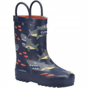 Cotswold Puddle Childrens Wellington Boots Navy (Sizes 4.5-13)