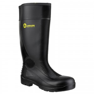 Amblers FS100 Safety Wellington Work Boots Black (Sizes 4-13)
