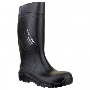 Dunlop Purofort Plus Safety Wellington Work Boots Black (Sizes 6-14)
