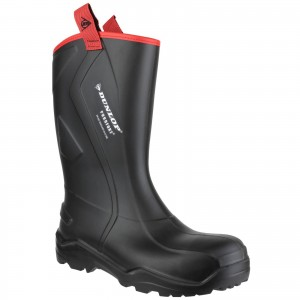 Dunlop Purofort Plus Rugged Safety Wellington Work Boots Black (Sizes 6-14)