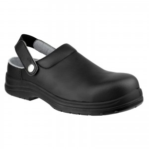 Amblers FS514 Safety Work Clog Shoes Black (Sizes 3-12)