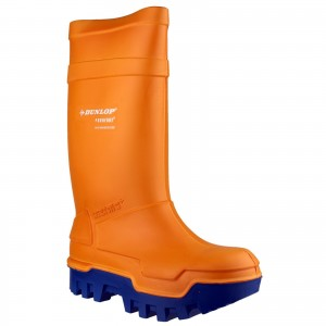 Dunlop Purofort Thermo Plus Safety Wellington Work Boots Orange (Sizes 5-13)