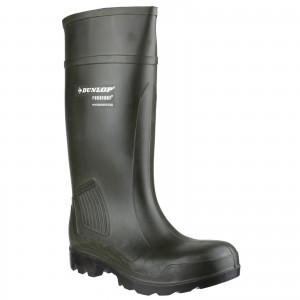 Dunlop Purofort Professional Safety Wellington Work Boots Green (Sizes 4-13)
