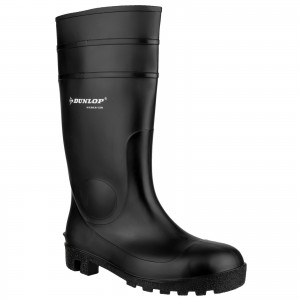 Dunlop Protomastor Safety Wellington Work Boots Black (Sizes 3-13)