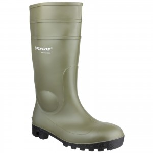 Dunlop Protomastor Safety Wellington Work Boots Green (Sizes 3-13)