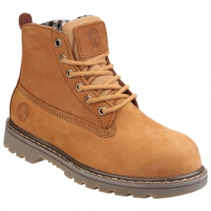 Amblers FS103 Womens Safety Work Boots Tan Brown (Sizes 3-8)