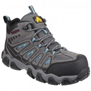Amblers AS802 Waterproof Womens Safety Hiker Work Boots Grey (Sizes 3-8)