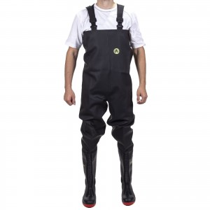 Amblers Danube Chest Wader Safety Boots Black (Sizes 4-13)