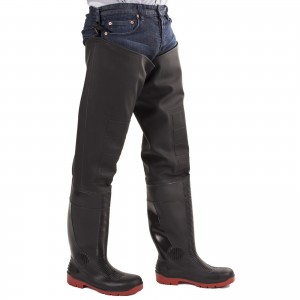 Amblers Rhone Thigh Wader Safety Boots Black (Sizes 4-13)