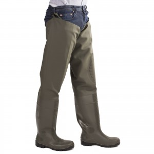 Amblers Forth Thigh Wader Safety Boots Green (Sizes 4-13)