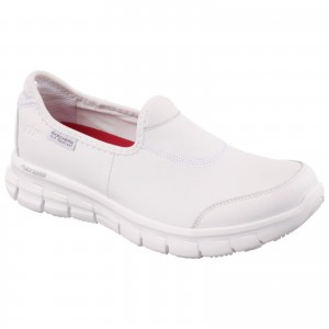 Skechers Sure Track Womens Occupational Shoes White (Sizes 2-8)