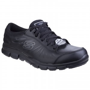 Skechers Eldred Womens Occupational Shoes Black (Sizes 3-8)