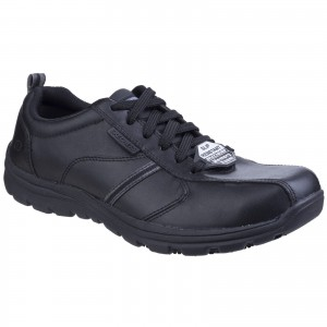 Skechers Hobbes Occupational Trainer Shoes Black (Sizes 6-13)