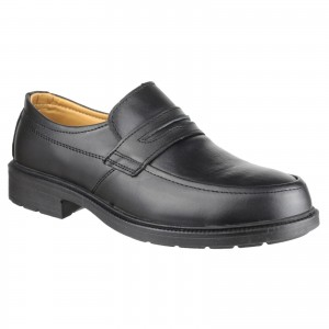 Amblers FS46 Moc Toe Safety Work Shoes Black (Sizes 6-14)