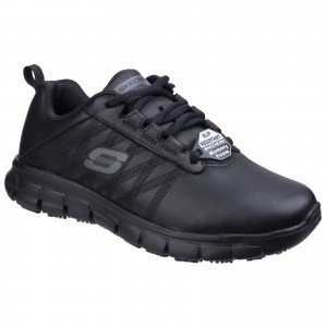 Skechers Erath Womens Occupational Trainer Shoes Black (Sizes 3-8)