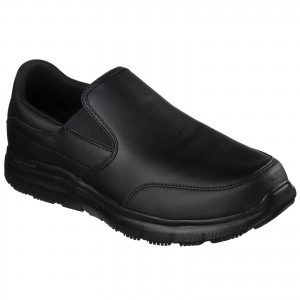 Skechers Bronwood Flex Occupational Shoes Black (Sizes 6-13)