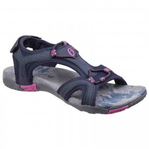Cotswold Cerney Womens Casual Sandals Navy Blue (Sizes 3-8)