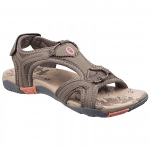 Cotswold Cerney Womens Casual Sandals Brown (Sizes 3-8)
