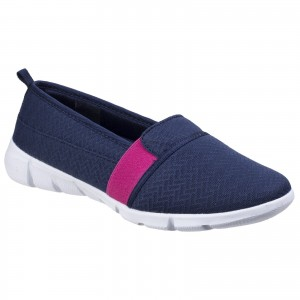Fleet & Foster Canary Womens Summer Loafer Shoes Navy (Sizes 3-8)