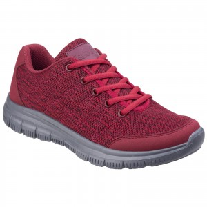 Fleet & Foster Elanor Trainer Shoes Red (Sizes 3-8)
