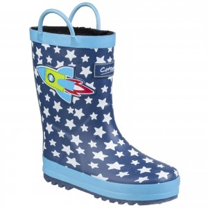 Cotswold Sprinkle Childrens Wellington Boots Blue (Sizes 4.5-2.5)