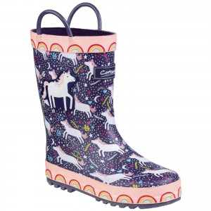 Cotswold Sprinkle Childrens Wellington Boots Purple (Sizes 4.5-2.5)