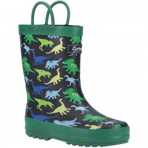 Cotswold Sprinkle Childrens Wellington Boots Green (Sizes 4.5-2.5)