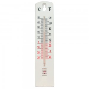 Task Indoor/Outdoor Stick-On Thermometer