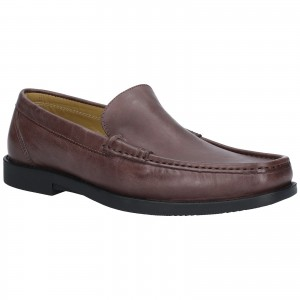 Steptronic Montana Moccasin Formal Shoes Brown (Sizes 6-12)