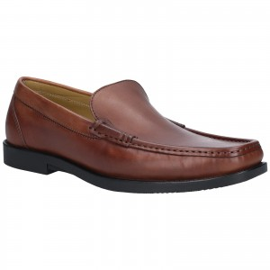 Steptronic Montana Moccasin Formal Shoes Tan (Sizes 6-12)