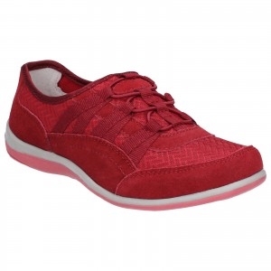 Fleet & Foster Dahlia Womens Casual Shoes Red (Sizes 3-8)