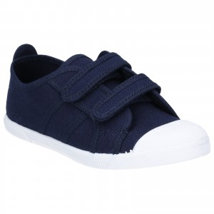 Flossy Sasha Childrens Touch Fastening Shoes Navy (Sizes 5.5-2)