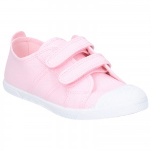 Flossy Sasha Childrens Touch Fastening Shoes Pink (Sizes 5.5-2)