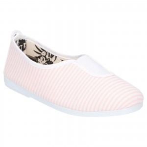 Flossy Rayuela Childrens Canvas Shoes Pink (Sizes 10-2)