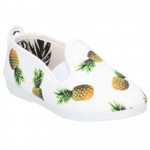 Flossy Frassy Childrens Printed Canvas Shoes White (Sizes 5.5-2)